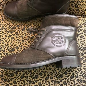 Brown CHANEL boots